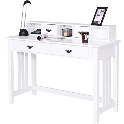 Giantex Writing Desk with 4 Drawers,...