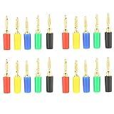 Conector de plátano, 20 unidades/set de 2 mm, colores variados, banana, plug jack, sondas de prueba, conector para amplificador para instrumentos, equipos médicos, altavoz, amplificador