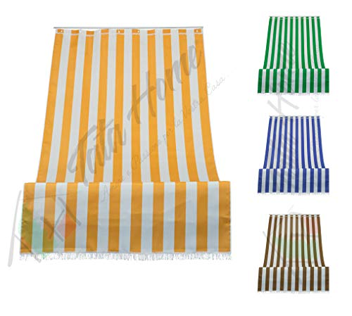 Tenda da Sole a Righe per Balcone Veranda o Terrazzo con Anelli e Ganci Tessuto Resistente...