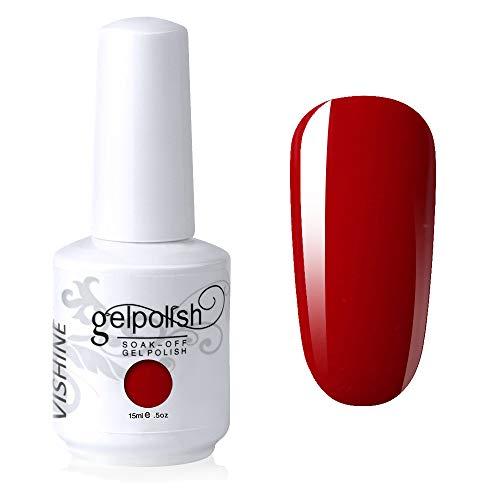 Vishine Gelpolish Lacquer Shiny Color Soak Off UV LED Gel Nail Polish...