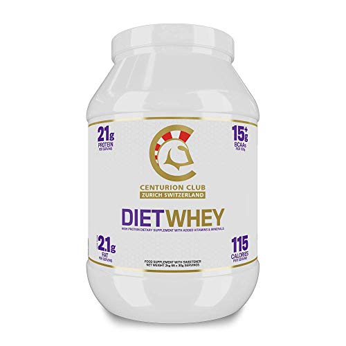 Centurion Club Nutrition Diet Whey Protein Concentrate Supplement – Protein Powder for Weight Loss and Sustaining Lean Muscle - 2 kg (66 Servings), Chocolate Flavour