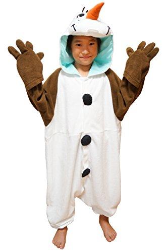 SAZAC Fleece Pyjama Kigurumi - Olaf (Disney) Frozen (Die Eiskönigin) 110cm