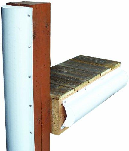 Dock Edge + Inc. PVC Piling Bumper (White, 6-Feet)