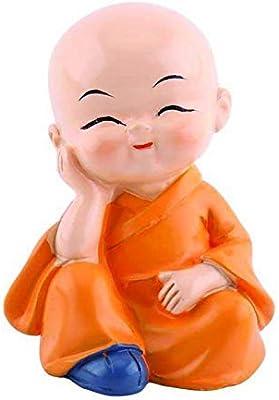 Autographix Colorful 4 Monks Buddha Figurines