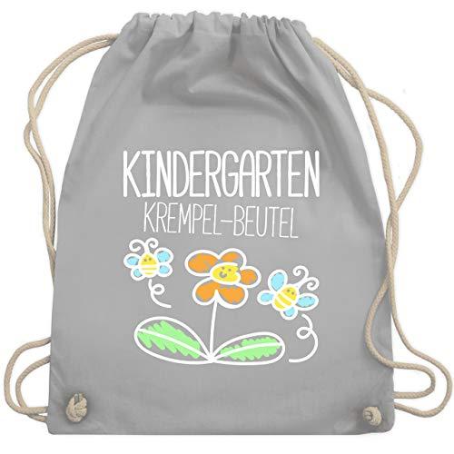 Shirtracer Turnbeutel - Kindergarten Krempel-Beutel - Unisize - Hellgrau - ordner kind - WM110 - Turnbeutel und Stoffbeutel aus Baumwolle
