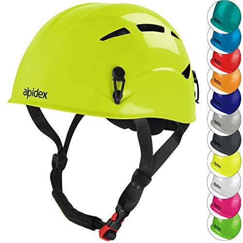 ALPIDEX Casco per Arrampicata de Donna e Uomo Casco Alpinismo en Diversi Colori, Colore:Lime Green