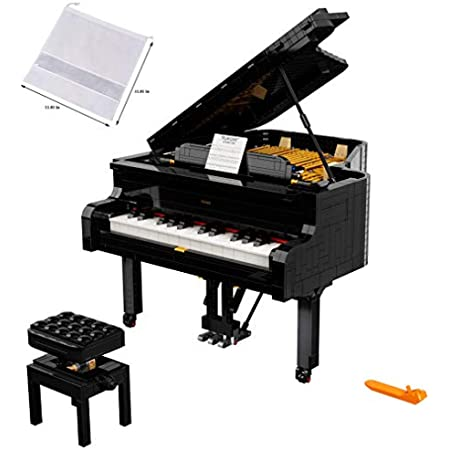 LEGO Ideas Grand Piano 21323 Model Building Kit, Build Your Own Playable Grand Piano, an Exciting DIY Project for The Pianist, Musician, Music-Lover or Hobbyist (3,662 Pieces) - BROAGE Drawstring Bag