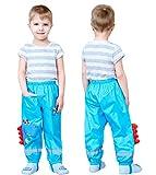 Coralup - Pantaloni impermeabili per bambini con cappuccio, per pioggia e pioggia Blu 2-3 Anni