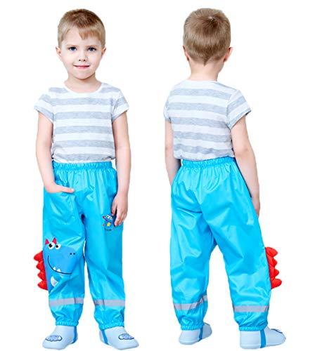 Coralup Toddlers Rain Waterproof Pants Little Boys Girls Mud Dirty Proof...