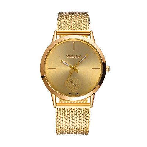 ZODOF Relojes para Hombre Reloj Damas de Malla Impermeable EleganteBanda de Acero Inoxidable Relojes de Pulsera Moda Vestir Negocio Lujo Casual Reloj de Cuarzoo