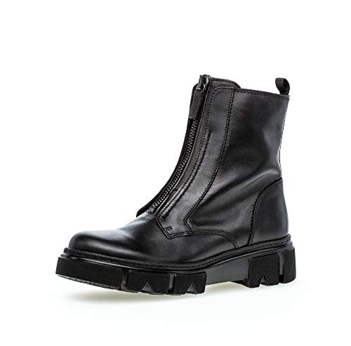 Gabor Damen Stiefeletten, Frauen Biker Boots,Best Fitting,Reißverschluss,Optifit- Wechselfußbett, motorradstiefel bikerbootie,schwarz,41 EU / 7.5 UK