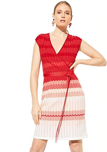 COMMA 81.004.82.5454 Kleid, Damen, Rot 42 EU