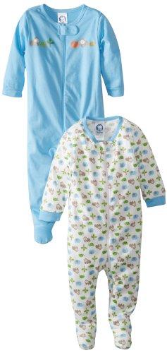 Gerber Baby Boys' 2-Pack Sleep 'N Play, Gorilla Blue, 0-3 Months