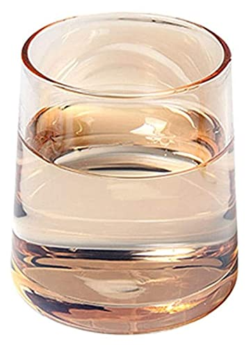 Beapet Gafas de Bebidas de Whisky, Gafas de cóctel de Moda para escocés, Bourbon, cócteles, Ron, glasswware durables Conjuntos de Cristal para Fiesta, Juego de Camping de 2 (Color : Type5)
