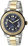 Gevril Men's Seacloud Automatic Self Winder Watch with Stainless Steel Strap, Gold, 22 (Model: 3125B)