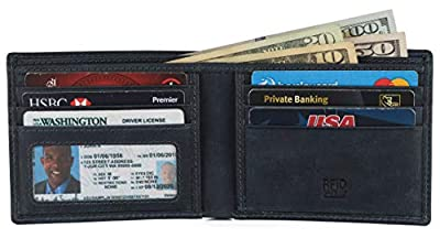 RFID Leather BiFold Wallet For Men With ID Window And Credit Card Slots comes in a Gift Box