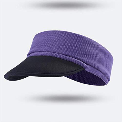YSINFOD Multifunktionshut Unisex Stilvolle Sommer Visiere Kappe Sport Hüte Für Frauen Männer Einzigartige Klassische Leere Zylinder, Lila