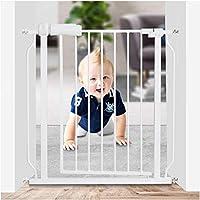 開閉式ベビーゲート ベビーフェンス ペットゲート階段のドア 突っ張りタイプ 安全ロック 保証付き 階段のドア ペット犬分離ゲート 設置幅61-265.9ペットの犬のフェンス 高さ78cm (Color : White, Size : 61-63.9cm)