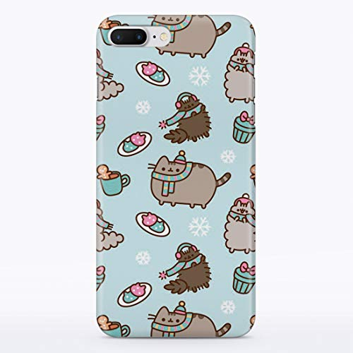 iPhone Case Cute Winter Cats for Apple iPhone 4 / 4s Hard Case Durable Protective Shell Cover Case (Frosty Cat Snowflakes, iPhone 4 / 4s)