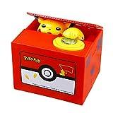 GD-Clothes Detective Pikachu Money Piggy Bank-Electronic Coin Money Piggy Bank Children Steal Money Cartoon Piggy Bank for Kids