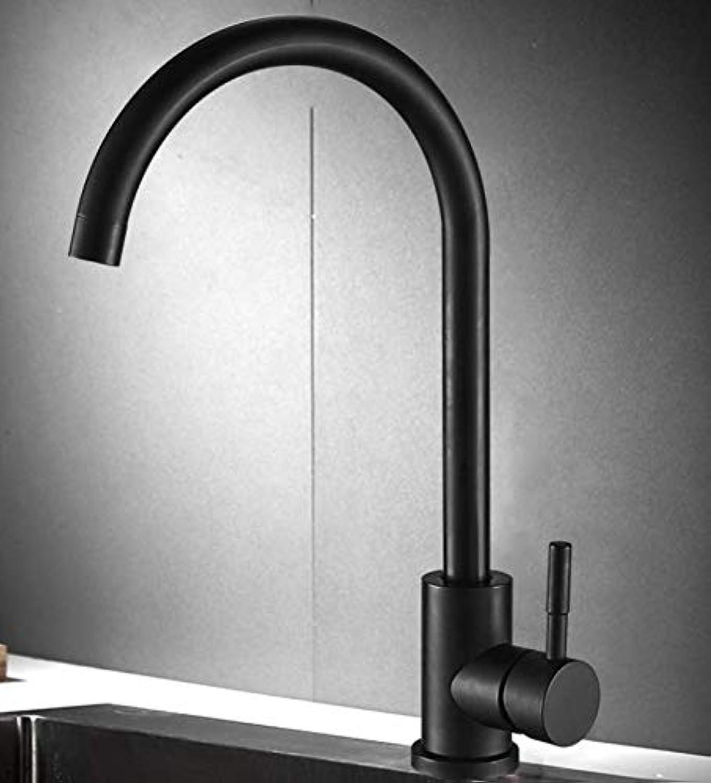 Wasserhahn Waschbecken Schwarzer Küchenarmatur Heier Und Kalter Kupfer 304 Edelstahl Waschbecken Schwarz Einzigen Kalten Wasserhahn