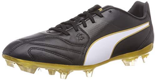Puma CAPITANO II FG, Herren Fußballschuhe, Schwarz (Puma Black-Puma White-Gold 1), 44 EU