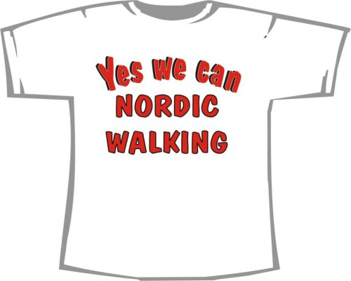Yes we can Nordic Walking; T-Shirt weiß, 36/38; Gr. S; Damen