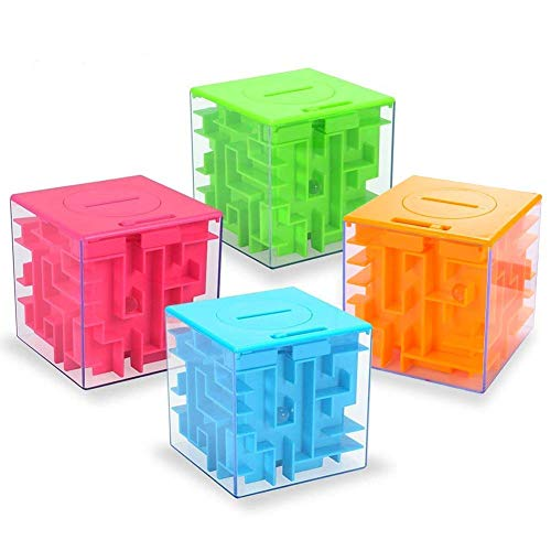 Money Maze Puzzle Box, Twister.CK Money Holder Puzzle for Kids and Adults Birthday (4PACK)