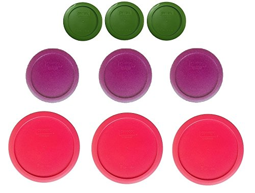 Pyrex Replacement Lids for 18-piece set (7 cup, 4 cup & 2 cup) Lids Only