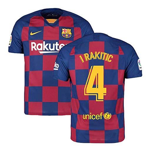 2019-2020 Barcelona Home Nike Football Soccer T-Shirt Trikot (Ivan Rakitic 4)