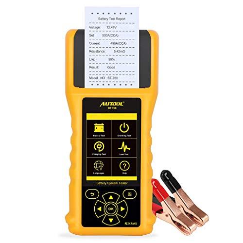 CHENGL Auto-Batterie-Tester 6-30V 10-200cca Diagnoseanalysator-Autobatterie schnell mit Thermodrucker Lade
