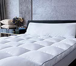 Mattress Topper King Size Cooling Plush Pillow Top Mattress Pad/Bed Topper, Extra Thick Hotel Quality Down Alternative Pillow Topper