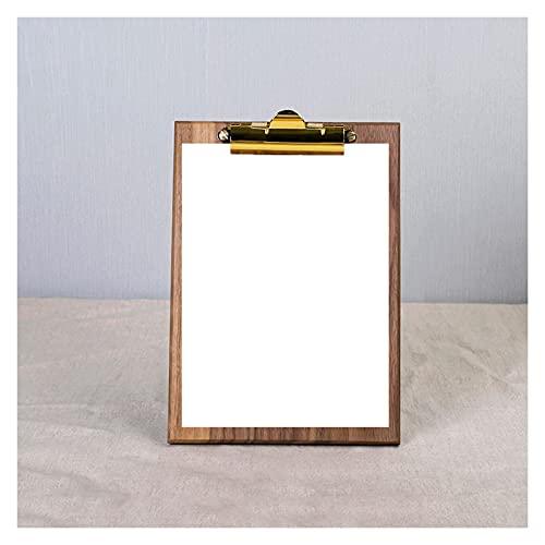 caihuashopping Porta-Pad Lavagna Black Walnut Appunti Clipboard Multi-Size Scrittura del File Pad Organizer Binder Cartella Multi-Funzione per Note, Informazioni e Menù Portablocco (Size : Large)