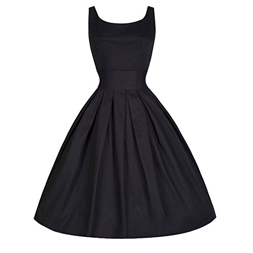 OverDose Damen Urlaub Reisen Vintage Style Frauen 50er Jahre Swing Retro Hausfrau Party Maskerade Bar Dance Slim Rockabilly Abendkleid Rock