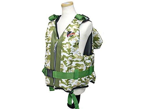 ファインジャパン 枕付 ライフジャケット 子供用 笛付き Sサイズ FV-6145 グリーンカモ