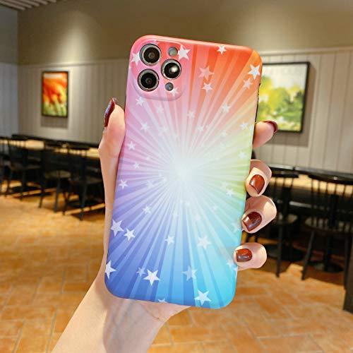 SevenPanda Hülle für iPhone 8 Plus 7 Plus Sterne Hülle, Aurora Stars Muster Glatte IMD Design Serie Flexible, Schlanke TPU Silikonhülle für iPhone 7 Plus 5.5 Zoll
