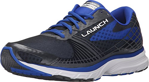 Brooks Herren Launch 3 Laufschuhe, Grau (Anthracite/ElectricBrooksBlue), 48.5 EU
