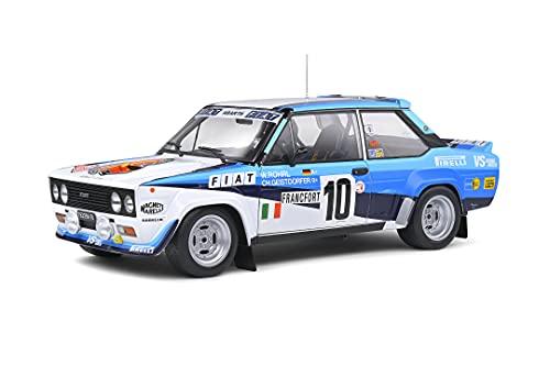 Solido 421187300 Fiat 131 Abarth #10, Rallye Monte Carlo 1980, Conductor: W. Tubo, Modelo de Coche, Escala 1:18, Color Blanco/Azul