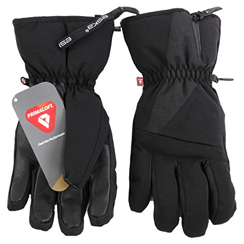 ESKA Sports Herren Wintersport Ski Handschuhe Clear Black 1554 ((4XL) 11)