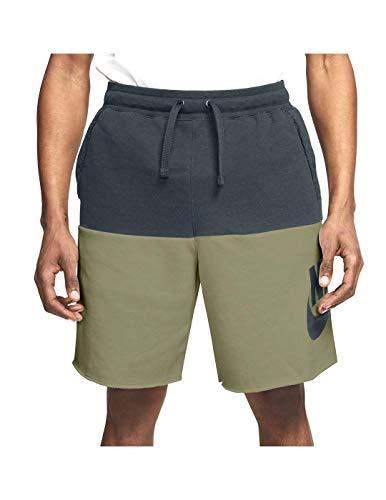 NIKE CJ4352-375 Pantalones Cortos, Negro/Verde, S para Hombre