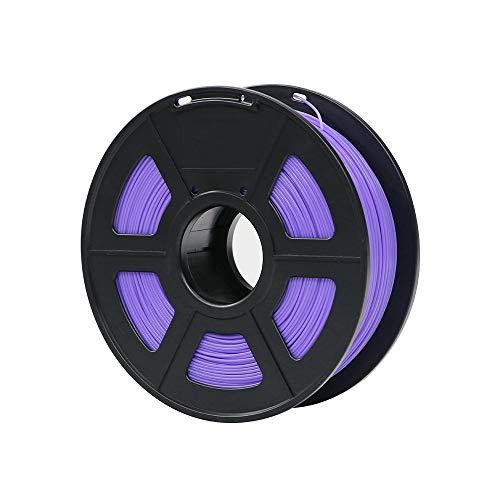 HUANRUOBAIHUO PLA filamento 1,75 Millimetri di plastica for 3D 1kg Stampante/Rullo 28 Colori facoltativi Gomma di consumo Materiali for la Stampa Stampante Forniture (Color : Purple)