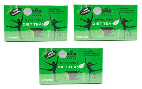 3 Boxes Royal King Extra Strength Diet Green Tea 18 Tea Bags Each Box
