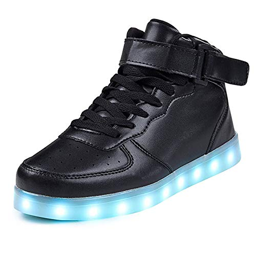 IGxx LED Light Up Shoes Light for Men High Top LED Sneakers USB Recharging Shoes Women Glowing Luminous Flashing Shoes LED Kids