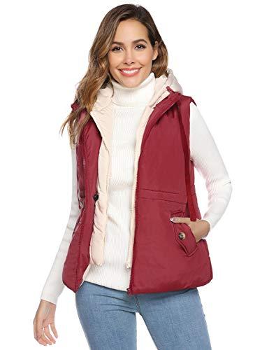 Akalnny dames jas met capuchon dames vest lichtgewicht grote zak winter jas