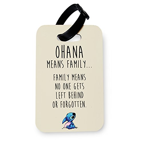 WTF | Ohana (Beige) | Printed Art Faux Leather Passport Cover/Luggage Tag (Luggage Tag)