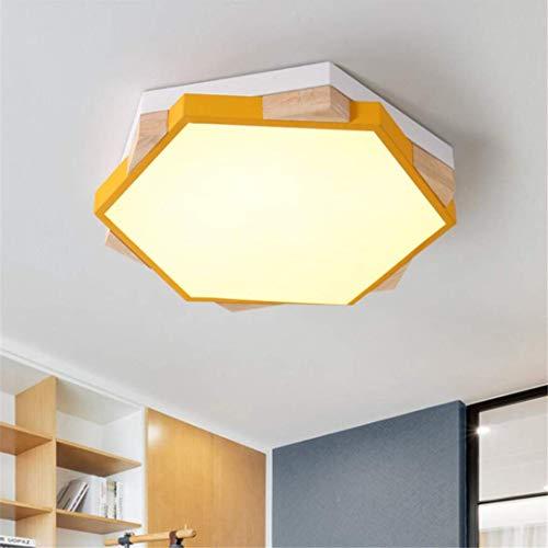 GD1 Plafonnier Nordic Simple Jaune Lampe de Chambre à Coucher Forme Géométrique Personnalité Créative Petit Appartement Coréen LED Lumière de Chambre