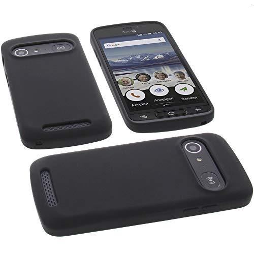 foto-kontor Hülle für Doro 8040 Tasche Silikon TPU Schutz Handytasche schwarz
