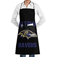 Baltimore Bib Aprons for Women Men,American Football Team Design Chef Apron with Pockets for Kitchen Grilling