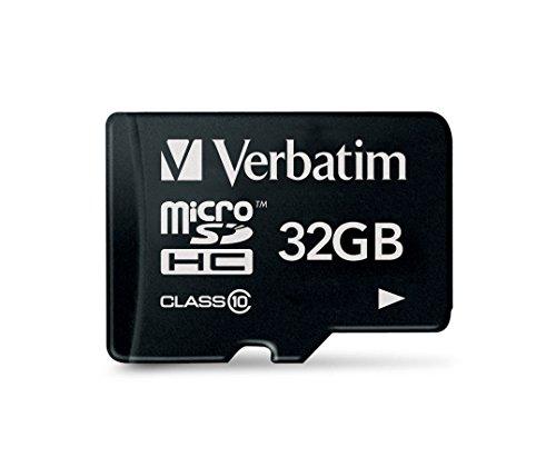 Verbatim Premium microSDHC Speicherkarte I 32 GB I SD Karte für Full-HD Videoaufnahmen I schwarze Speicherkarte wasserabweisend & stoßfest I SD Speicherkarte für Kamera Smartphone Tablet