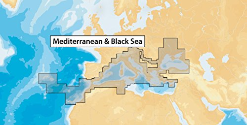 Navionics MicroSD - Carta nautica, zona 43XG Mar Mediterraneo e Mar Nero